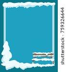 wooden isolated bench under... | Shutterstock .eps vector #759326644