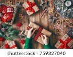 merry christmas and happy... | Shutterstock . vector #759327040