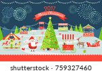 merry christmas poster...   Shutterstock .eps vector #759327460