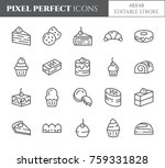 cakes and cookies theme pixel... | Shutterstock .eps vector #759331828