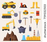 mining industry and tools... | Shutterstock .eps vector #759332503