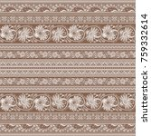 abstract ethnic vintage strip... | Shutterstock .eps vector #759332614