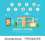 smart home concept. automation... | Shutterstock .eps vector #759336193