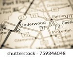 underwood. canada on a map.   Shutterstock . vector #759346048