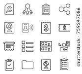thin line icon set   search...   Shutterstock .eps vector #759347086