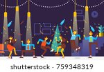 christmas party. business... | Shutterstock .eps vector #759348319