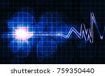 abstract heart monitor on a... | Shutterstock . vector #759350440