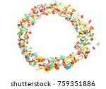 round frame of colored confetti | Shutterstock . vector #759351886