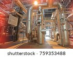 equipment  cables and piping as ... | Shutterstock . vector #759353488