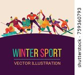 color sport background. hockey  ...   Shutterstock .eps vector #759360793