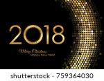 vector   2018 happy new year... | Shutterstock .eps vector #759364030