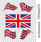 of wavy british flag. icon ...   Shutterstock .eps vector #759366373