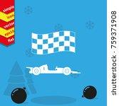 race car vector icon. | Shutterstock .eps vector #759371908