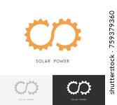 solar power logo   sun  gear... | Shutterstock .eps vector #759379360