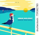 winter holiday vacation concept.... | Shutterstock .eps vector #759382783