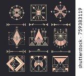 vector set of sacred geometry....   Shutterstock .eps vector #759383119
