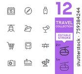 travel collection. editable... | Shutterstock .eps vector #759384244
