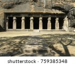 entry to elephanta caves  india | Shutterstock . vector #759385348
