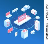 internet of things layout. iot...   Shutterstock . vector #759387490