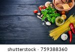 italian food preparation pasta... | Shutterstock . vector #759388360