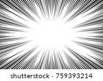 black and white radial lines... | Shutterstock .eps vector #759393214