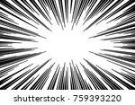 black and white radial lines... | Shutterstock .eps vector #759393220