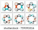 vector circles infographic set. ... | Shutterstock .eps vector #759393316