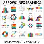 vector arrows infographics... | Shutterstock .eps vector #759393319