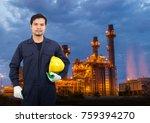 technician man with industrial... | Shutterstock . vector #759394270