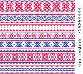 lapland traditional folk art... | Shutterstock .eps vector #759394444