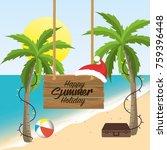 summer merry christmas holidays ...   Shutterstock .eps vector #759396448