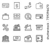 thin line icon set   card ... | Shutterstock .eps vector #759396670