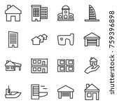 thin line icon set   home ... | Shutterstock .eps vector #759396898