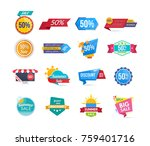big set of design sale banners...   Shutterstock .eps vector #759401716