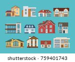 set of different colorful... | Shutterstock .eps vector #759401743