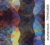 ornate seamless texture... | Shutterstock .eps vector #759401800