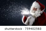 santa claus with magic slats ... | Shutterstock . vector #759402583