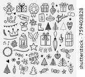 christmas and new year... | Shutterstock .eps vector #759403828