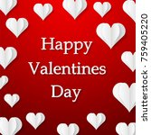 happy valentine's day design... | Shutterstock .eps vector #759405220