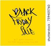 hand drawn illustration   black ... | Shutterstock .eps vector #759405760
