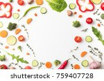 top view of circle of cut...   Shutterstock . vector #759407728