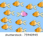 one single fish swimming in... | Shutterstock . vector #75940945