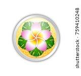 silver or platinum hawaiian... | Shutterstock .eps vector #759410248