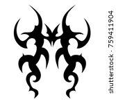 tattoo tribal vector design.... | Shutterstock .eps vector #759411904
