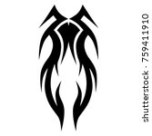tattoo tribal vector design.... | Shutterstock .eps vector #759411910