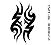 tattoo tribal vector design.... | Shutterstock .eps vector #759411928