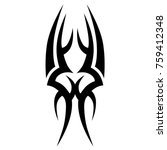 tattoo tribal vector design.... | Shutterstock .eps vector #759412348