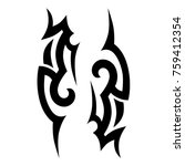 tattoo tribal vector designs.  | Shutterstock .eps vector #759412354