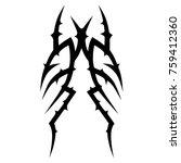 tattoo tribal vector designs.  | Shutterstock .eps vector #759412360