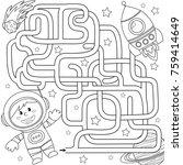 help cosmonaut find path to...   Shutterstock .eps vector #759414649